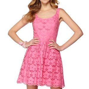 Lily Pulitzer Calhoun pink eyelet dress